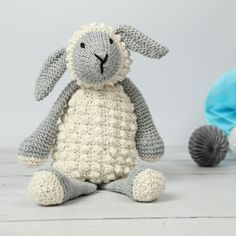 Lionel The Lamb Knitting KitThanks notonthehighstreet for this post.Make your very own Lionel Lamb with our Knitting Kit. He's a super cute little lamb! This crafting knitted kit of Lionel the Lamb will make a great DIY present for a mum-to-b# DIY Knitting Kits, Hand Knitting, Knitting Patterns, Crochet Patterns, Stitch Pictures, Baby Box, Bobble Stitch, Baby Couture, Diy Presents