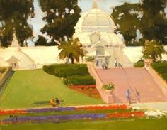 Monday at the Conservatory of Flowers, San Francisco by Brian Blood Oil ~ 11 x 14