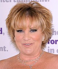 Lorna Luft Hairstyle: Formal Short Straight Hairstyle