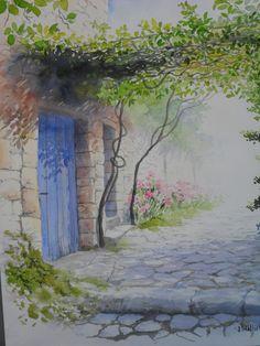 Peindre c'est capturer l'instant fugitif de la beauté d'un paysage, avec le filtre de son regard..» J. Williet Ces aquarelles se trouvent à l'atelier galerie de …
