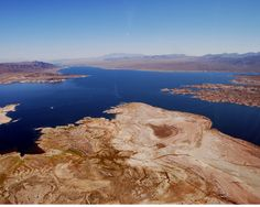 We were amazed at the variety of colors that could be seen in Lake Mead. We were told the blue-green color was due to copper and of course,. Lake Mead, Lake Life, Green Colors, Waterfall, Memories, Beach, Outdoor, Memoirs, Outdoors