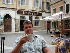 Bit of coffee in Corfu Corfu, Travel, Voyage, Viajes, Traveling, Trips, Tourism