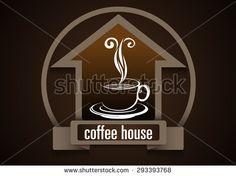 Coffee house logo - stock vector