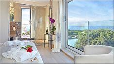 szép modern hálószoba (Luxuslakás 7) Wabi Sabi, Oversized Mirror, Windows, Furniture, Diy, Home Decor, Do It Yourself, Homemade Home Decor, Decoration Home