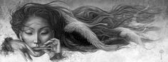 Melody of the Wind - Irina Druchinina Just beautiful White Magic, Beautiful Artwork, Dark Art, Female Art, Illustrators, Design Art, Art Drawings, Mona Lisa, Street Art