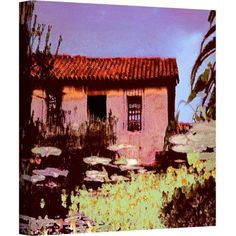 Dean Uhlinger Reflection The Past Gallery-Wrapped Canvas, Size: 24 x 24, Blue