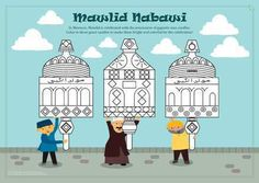 free activity, free printable muslim, mosque, muslim childern activity, maulid nabawi, masjid, coloring page