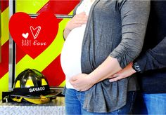 Firetruck Fire Truck Firehouse Fireman fireman fire station helmet modern red yellow maternity pictures, maternity photos, pregnancy photos, pregnancy pictures, maternity   picture poses, maternity photo poses, pregnancy picture poses, pregnancy photo poses, baby shower.  Styling, Photography, and baby shower by www.BeautifulEvents.co. -  www.Facebook.com/beautifuleventsco