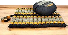 livasia Yogaset/Meditationsset der Marke Asia Wohnstudio: 1 x Zafukissen (Yogakissen)  1 x Rollmatte (Meditationskissen) mit Reiner Kapokfüllung Günstiges Set - 49.90 - 5.0 von 5 Sternen - Yoga Sitzkissen Stars