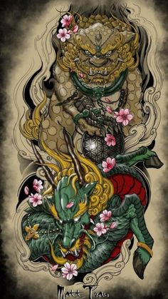 Japanese Back Tattoo, Japanese Tattoos For Men, Best Sleeve Tattoos, Body Art Tattoos, Bio Organic Tattoo, Biomechanical Tattoo, Fu Dog, Asian Tattoos, Japan Tattoo