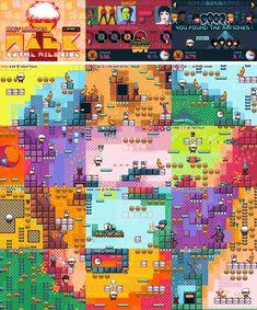 Andy Warhol Platformer, bugpixel