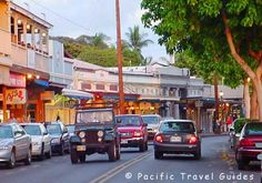 Maui;  Little town of Lahaina is a popular tourist destination with lots of shops, eateries, snorkeling, parasailing, submarine rides and so much more