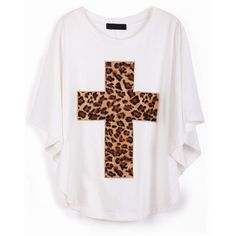 To find out about the White Batwing Sleeve Leopard Cross Print T-Shirt at SHEIN, part of our latest T-Shirts ready to shop online today! Fashion Poses, Fashion Outfits, Dress Up Dolls, Latest T Shirt, Clothing Sites, Batwing Sleeve, Bat Wings, Comfortable Outfits, Cute Outfits