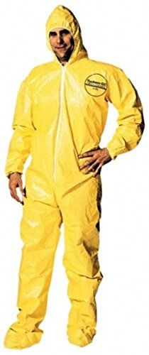 Dupont X-Large Yellow Tychem QC Chemical Protection Coveralls DuPont http://www.amazon.com/dp/B005QQFI00/ref=cm_sw_r_pi_dp_5cDMub1PY6XZP