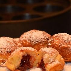 Ebelskivers on BigOven: Scandinavian (Danish) filled pancakes/doughnuts made stove top in a special pan.