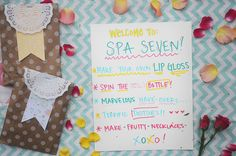 Spa Party Ideas via katherinemaries