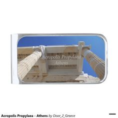 Acropolis Propylaea - Athens Silver Finish Money Clip