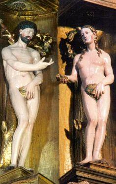 Adán y Eva en el Altar de Pampliega.