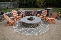 backyard firepit, exterior design