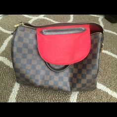 Authentic Louis Vuitton Speedy 30 Damier Ebene In good condition, only thing wrong with it is that the handles are peeling. Not noticeable when holding bag. I would take it to Louis Vuitton store to repair it but I don't live near one. Comes with lock and key. Make me an offer, trade only LV items only or ️️ works for me too.  Louis Vuitton Bags