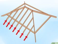 How to Build a Hip Roof. Any roof which has 4 sides, all of which slope upwards to meet at a seam at the top of the roof, is a hip roof. It is perhaps one of the simplest styles of roofing, and is often combined with gables or other.