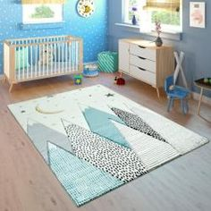 Spielteppich Kinderzimmer 3DDesign Alpaka Grau Teppich
