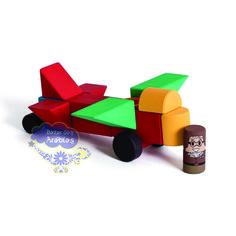 Avião Auto Bloco, Avião Auto Bloco Hergg Brinquedos, Brinquedos Hergg, Brinquedos Educativos, Brinquedos de Madeira