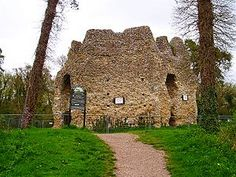 Odiham Castle (also known locally as King John's Castle) is a ruined castle situated near Odiham in Hampshire, United Kingdom. It is one of only three fortresses built by King John during his reign.  The site was possibly chosen by King John because he had visited the area in 1204 and it lay halfway between Windsor and Winchester. It was built from 1207 to 1214.