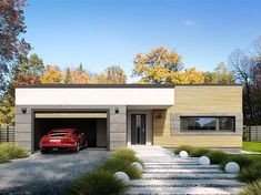 Projekt domu Nila 2 116,51 m2 - koszt budowy - EXTRADOM House Outer Design, Minimal House Design, Small House Design, Round House Plans, House Construction Plan, Model House Plan, Home Design Floor Plans, Bungalow House Design, House Blueprints