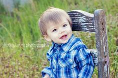 Lane's 1 year photo shoot!  Barn country photography 1st birthday boy