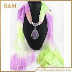 Beautiful Elegant Multi-Color Dye Fashion Jewel-Accent Scarf 8 Colors