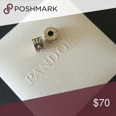 2 Pandora 14k Sunburst Clip Charms 14k gold detail  Set of 2  100% Authentic Pandora  Very good condition  Properly Stamped  Pandora stores offer lifetime free cleaning No box included   Bundle for discounts Pandora Jewelry Bracelets