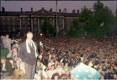Italia '90 Dublin homecoming. Dublin Ireland, Old Photos, World Cup, Homecoming, Past, Dolores Park, Nostalgia, History, Travel