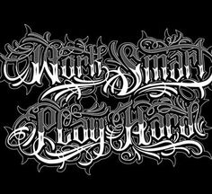Tattoo Lettering Styles, Chicano Lettering, Graffiti Lettering Fonts, Hand Lettering Alphabet, Cool Lettering, Script Lettering, Tattoo Fonts, Lettering Design, Calligraphy Letters