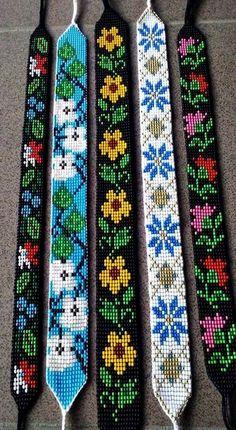 off loom beading techniques Loom Bracelet Patterns, Bead Loom Bracelets, Bead Loom Patterns, Bracelet Crafts, Beaded Jewelry Patterns, Weaving Patterns, Friendship Bracelet Patterns, Bracelet Crochet, Bead Loom Designs