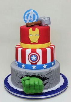 avengerbirthdaypartythemecakescupcakes cake love