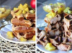 Caramel Apple Spice Gluten-free Waffles - Against All Grain