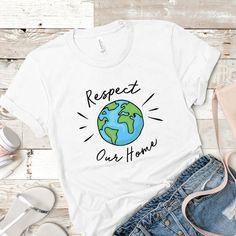 Vegan T Shirt - Vegan Tee - Environmental Tshirt - Climate Change - Save The Planet - Mother Earth Shirt - Planet Shirt - Earth T Shirt Home T Shirts, Momma Shirts, Vegan Clothing, Vegan Fashion, Mens Fashion, Earth Day, Planet Earth, Save The Planet, Mother Earth