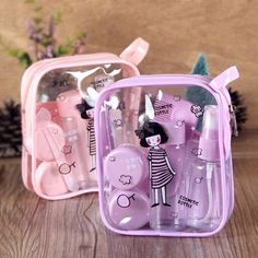 Aliexpress Girly Things, Cool Things To Buy, Cute Makeup Bags, Cool School Supplies, Cosmetic Containers, Storage Containers, Cute Stationery, Stationary, Travel Toiletries