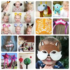 Felt crafts for kids - animal ears, fairy wands and masks