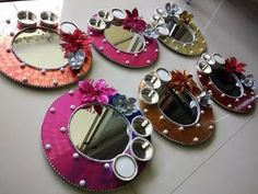 Packing Cd Crafts, Diy Crafts To Do, Creative Crafts, Hobbies And Crafts, Diwali Diy, Diwali Craft, Diwali Decorations, Festival Decorations, Wedding Decorations