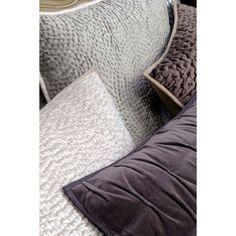 Housse de coussin grise tissée 60x60