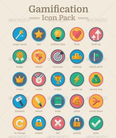 Buy Gamification Icon Pack by daijiaoking on GraphicRiver. A complete set of modern gamification icon pack for you to use in your creative business projects, for instance – web. Game Design, Icon Design, Web Design, Badges, Instructional Design, Educational Technology, App Development, Creative Business, Teaching