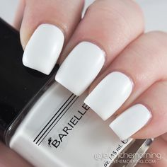 Barielle – Going to the Chapel Swatch and Review  #nail #nails #manicure #white #swatch