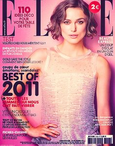 """Keira Knightley photographed by Robert Erdmann for the cover of """"ELLE"""" France magazine dec 2011......."""