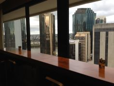View from the Executive Lounge at the Hilton Brisbane Hotel