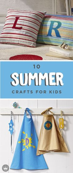 Beat the heat and banish summer boredom before it starts with our fun kids crafts. Includes 12 super-cool kids craft ideas you can create together! Homemade Kids Toys, Homemade Gifts, Summer Crafts For Kids, Kids Crafts, Summer Boredom, To My Daughter, Daughters, Hello Summer, Tea Party
