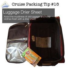 cruise packing tip 18 - drier sheet