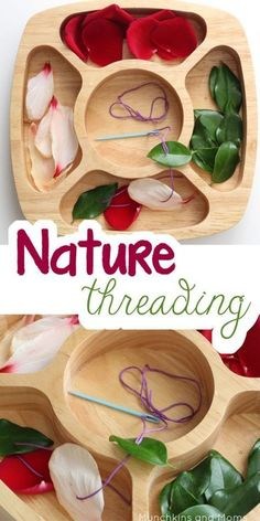 Nature Threading Fine motor work for preschoolers using nature finds! – Roel Van Nature Threading Fine motor work for preschoolers using nature finds! Fall Preschool Activities, Nature Activities, Montessori Activities, Motor Activities, Preschool Crafts, Reggio Emilia Preschool, Summer Activities, Autumn Activities For Babies, Outdoor Activities For Preschoolers