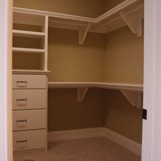 Love this kids corner closet! I would probably use the lower bar for hanging and then do more shelves above that one for storing toys!